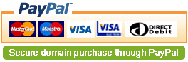 Buys your domains securely through PayPal